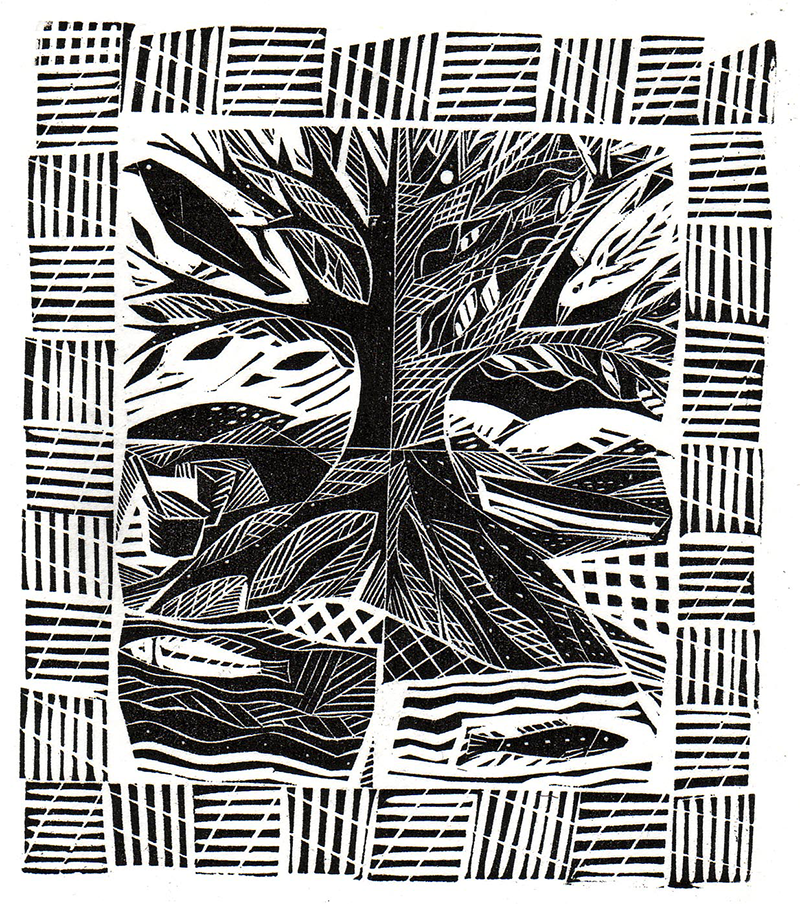 Tree, Birds and Fish